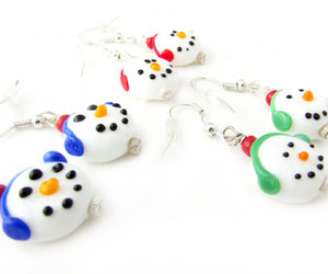 etsy, dangle earrings, and christmas earrings image