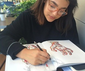 girl, art, and drawing image