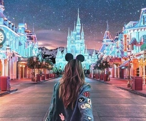 disney, disneyland, and light image