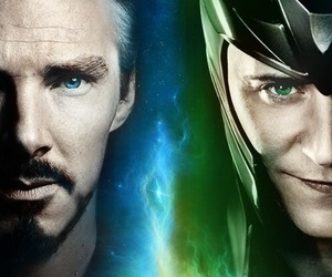 loki, tom hiddleston, and benedict cumberbatch image