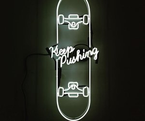 light, neon, and skate image