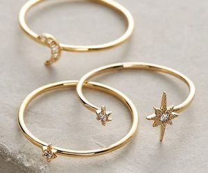 rings, stars, and gold image