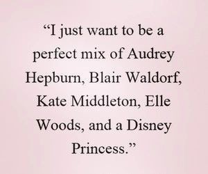 audrey hepburn, blair waldorf, and disney princess image