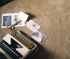 typewriter, vintage, and photo image