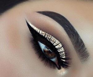 eyelashes, eyeliner, and gorgeous image