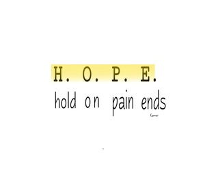 hold on, yellow, and hope image