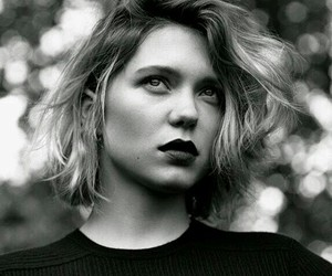 Lea Seydoux and black and white image