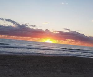 beach, morning, and sunrise image