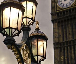 london, Big Ben, and light image