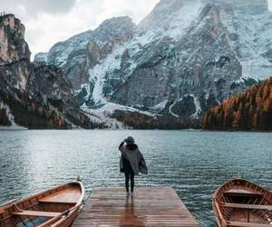 mountains, travel, and winter image