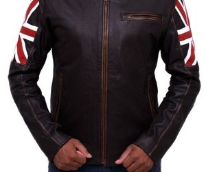 vintage jacket, men cloth, and uk flag jacket image