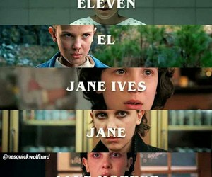 el, eleven, and stranger things image