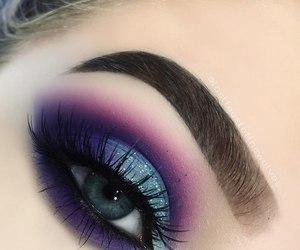 eyeshadow, cosmetics, and eyelashes image