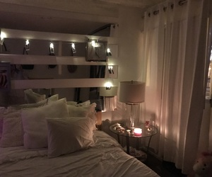 bed, bedroom, and candle image