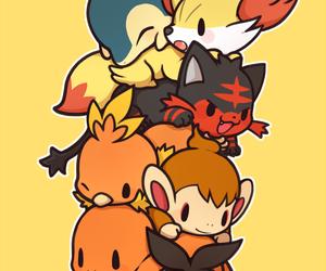 pokemon, litten, and chimchar image