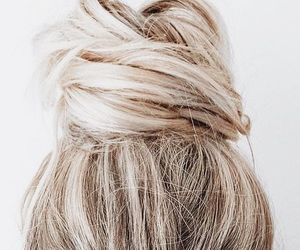 blonde, hairstyle, and wedding hair image