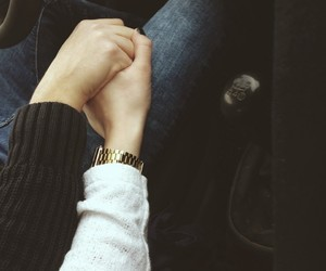 car, holding hands, and touch image