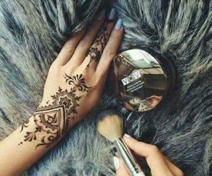 henna, tattoo, and beauty image