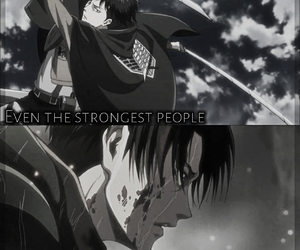 levi, quote, and snk image