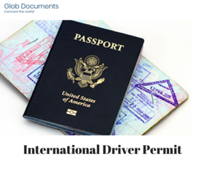 drivers license and glob documents image