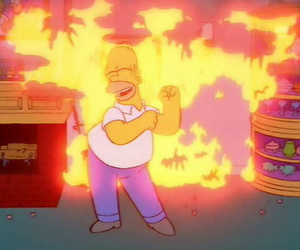 homer, the simpsons, and cartoon image