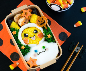 bento box, pikachu, and rice image