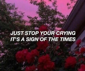 Harry Styles, sign of the times, and Lyrics image