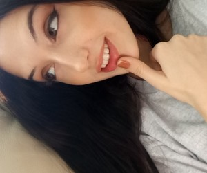 black hair, eyes, and fashion image