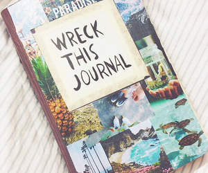 book, journal, and wreck this journal image