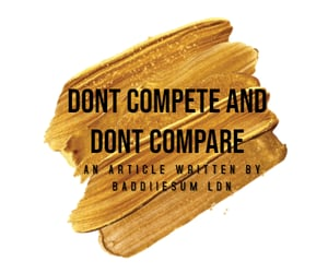 ★・゚ DONT COMPETE AND DONT COMPARE! ・゚★