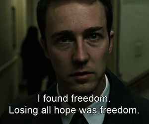 fight club, freedom, and movie image