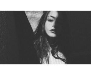 girl, black, and dark image