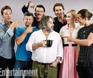 the hobbit, orlando bloom, and peter jackson image