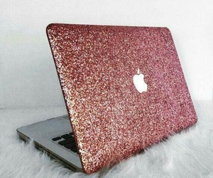apple, laptop, and pink image
