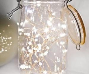 light, christmas, and jar image
