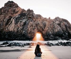 beach, travel, and sun image