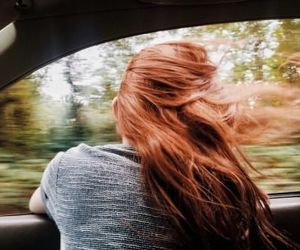 aesthetic, car, and red hair image