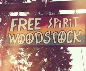 hippie, woodstock, and love image