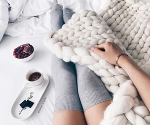 cozy, winter, and bed image