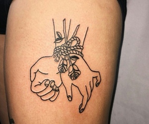 tattoo, rose, and hands image
