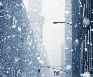 background, city, and winter image