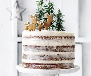 cake, christmas, and white image