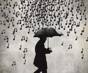 music and rain image