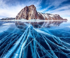 blue, mountain, and ice image