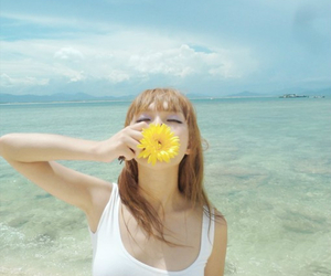 asian, beach, and flower image