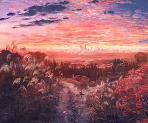 sky, art, and wallpaper image