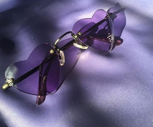 purple, glasses, and aesthetic image