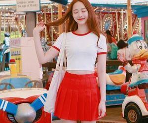 asian fashion, korean girl, and korean fashion image