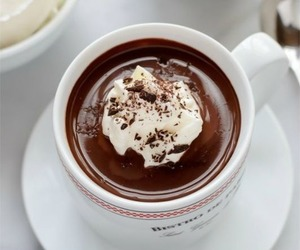 drink, chocolate, and hot ​chocolate image