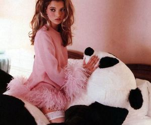 kate moss, panda, and pink image